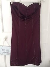Warehouse 1950s Inspired  Lined Boob tube purple party prom dress size 12