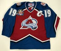 JOE SAKIC 1996 STANLEY CUP CCM NHL COLORADO AVALANCHE JERSEY LARGE MAROON