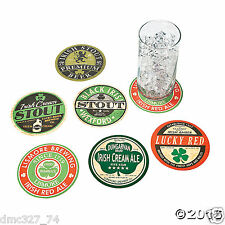 12 ST PATRICK'S DAY Party Bar Drink Beverage Paper Pub Styled Saying COASTERS
