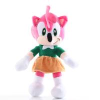 Sonic The Hedgehog Amy Rose Plush Doll Stuffed Animal Toy 11 inch XMAS Gift