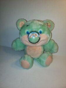 Vintage 1987 Nosy Bear GUPPY Playskool Mint Green Dolphin Nose (J8)