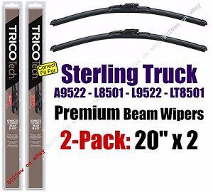 Wipers 2pk Premium fit 1999 Sterling Truck A9522 L8501 L9522 LT8501 19200x2