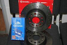 Brembo XTRA-Bremsscheiben und Ate Ceramic-Bremsbeläge Ford Focus III Satz hinten