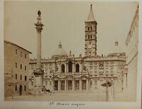 Basilica - Maria - Major Roma Italia Vintage Albumina, Ca 1880