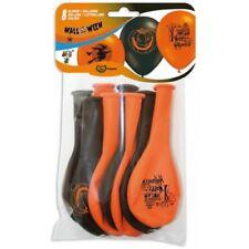 Happy Halloween Naranja Negro Globos Disfraz Decoración Pack de 8
