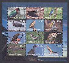 Tonga Sc 1170 MNH. 2012 Brids of the World, mini sheet of 12, VF+