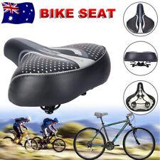 Large Bum Bike Seat Saddle Bicycle GEL Cruiser Cycling Sprung Cushion Sporty Pad