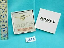 Vintage 925 Sterling Silver Jewelry Chain Daughter Charm Necklace Kohls NIB JS12
