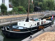 Classical Dutch Barge in collectible condition widebeam liveaboard canalboat