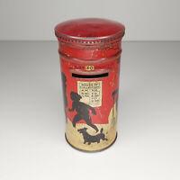Vintage 30's Huntley & Palmer's Christmas Pillar Post Box Biscuit Tin VERY RARE!