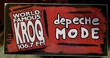1X 1990s vintage kroq 106.7 new sticker DEPECHE MODE Collectible