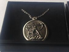 "Diana Goddess code dr88 Made From Pewter On 20"" Silver Plated Curb Necklace"