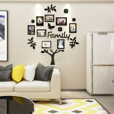 8X 3D Family Tree Photo Pictures Collage Frame Kit Wall Art Home Decor Gift