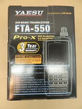 Yaesu Air Band Transceiver Fta-550 Pro-X Aa Battery Vor Ils Navigation