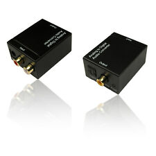 RCA/Phono to Toslink Optical Adapter & 1m Toslink Cable/ Lead & UK Mains Adapter