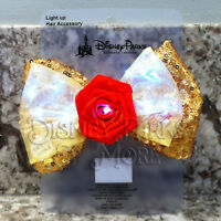 Disney Interchangeable Ears Light Up Princess Beauty and the Beast Belle Bow