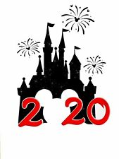 DISNEY FAMILY VACATION MICKEY:::::castle::  2020 FABRIC/T-SHIRT IRON ON TRANSFER