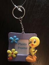 Warner Bros Classic Tweety Bird Photo Frame Plastic Keychain - Looney Tunes