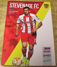 Stevenage Home Team League Two Football Programmes