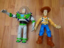 "RARE LARGE 10"" DISNEY ORIGINAL TOY STORY WOODY & BUZZ LIGHTYEAR WALKIE TALKIES"