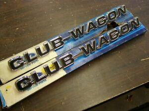 NOS 1975 - 1979 Ford Econoline Van Club Wagon Emblems 1976 1977 1978 E100 E250