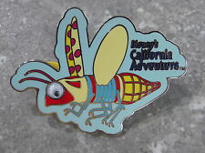 DISNEY DCA RED FLYING BUG PIN WITH MOVING EYES.