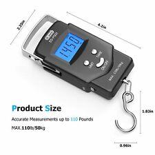 New listing Fishing Gear Backlit Lcd Display 110lb Balance Digital Postal Hanging Hook Scale