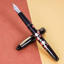 Japan Made Kuretake Urushi Maki-e Art Sakura Iridium M Medium Nib Fountain Pen