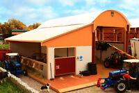 BRUSHWOOD Dutch Barn Silage Clamp w/ Cubicle Lean-to 1:32 Scale Farm Toys BT8985
