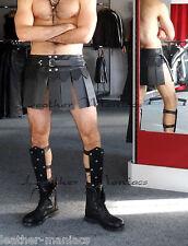 Beinschienen aus Leder Lederrüstung Rüstung Gladiator Gladiatorkostüm