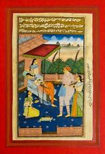 18TH-19TH C ANTIQUE MUGHAL (INDIA) MINIATURE ILLUMINATED MANUSCRIPT OPAQUE W/C