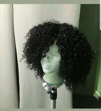 8A grade short Brazilian kinky curly human hair bob wig with Lace Closure
