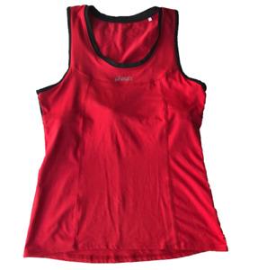 ASICS | Biomorphic Evolution Women's Red Running Tank | Inner Crop Bra | Size M