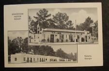 1940 POSTCARD-GRANDVIEW MOTOR COURT, ROBERTA, GEORGIA