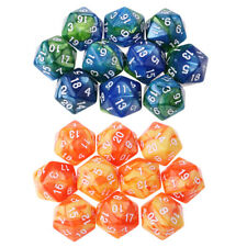 Set of 20 D20 Dice Twenty Sided for RPG MTG Table Game Double Colors Gift