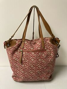 Lucky Brand  2 Way Canvas Leather Tote