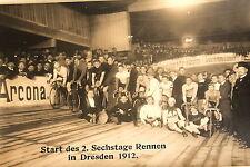 1937 Foto AK Start 2. Sechstage Fahrrad Rennen Dresden 1912 - im Stadion