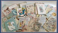 Vintage Lot 1950s Baby/Christening Greeting Cards - LOT 60+ PIECES   (Q413)