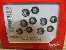 1/87 Herpa CAMIÓN Llantas para Audi Modelos plata lacado 053365