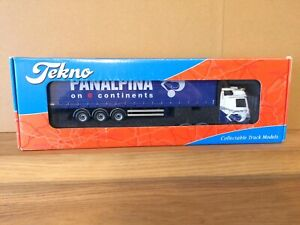 Boxed Tekno 1/50 Scale Die Cast Ltd Ed Mercedes C/Side Trailer 'PANALPINA' MIB