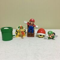 Lot x 5 Super Mario Bros McDonalds Happy Meal Figure Toys