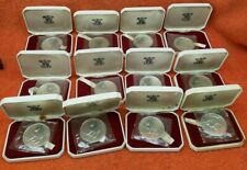 More details for 12 x 1970 isle of man one crown sterling silver proof coins - manx tailless cat