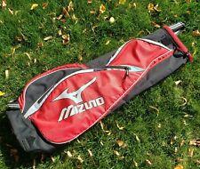 New listing Mizuno SCRATCH-SAC Portable/Travel Golf Bag Red/Black Single Strap Soft-Sided