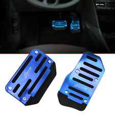 Car Blue Non-Slip Automatic Gas Brake Foot Pedal Pad Cover Accessories Universal