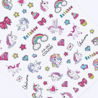 3D Nail Stickers Adhesive Transfer Decals  Star Heart