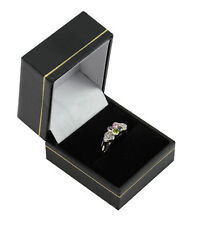 Jewellers Wholesale Ring Boxes 10 Black Leatherette Ring Boxes Jewellery Shop