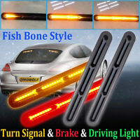 2x 60LED Car Truck DRL LED Light Bar Brake Flowing Turn Signal Stop Tail Strip