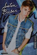 JUSTIN BIEBER - Autogrammkarte - Signed Autograph Autogramm Sammlung Clippings