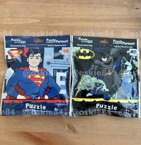 (2x) DC Comics Superman & Batman Puzzle On The Go 48 Pieces Resealable Bags