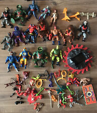 Vintage 80s He-Man Masters Of Universe Amos del universo Figura + Lote de Trabajo de armas
